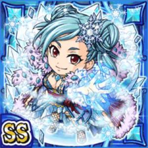 氷晶女神ヒューギ(水属性・ダブルスーパーレアカード)