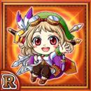 剣槍商娘ポローレ(火属性・レアカード)