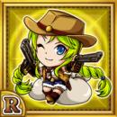 双銃女士シャリラ(雷属性・レアカード)