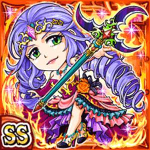 炎煉后妃メリサーヌ(火属性・ダブルスーパーレアカード)
