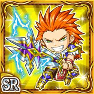 雷鋼剣士ジバル(雷属性・スーパーレアカード)