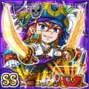 海賊船長ジャックス(闇属性・ダブルスーパーレアカード)