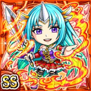 炎剣角姫ナスキル(火属性・ダブルスーパーレアカード)