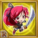 刀剣使いラリザ(雷属性・レアカード)