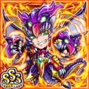 竜拳闘神バイブラ(火属性・トリプルスーパーレアカード)